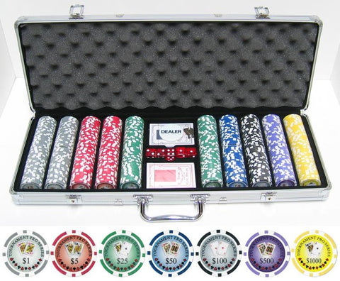 JP Commerce Tournament Series 500 Pc Casino Poker Chips Set 11.5 gram - Game Tables