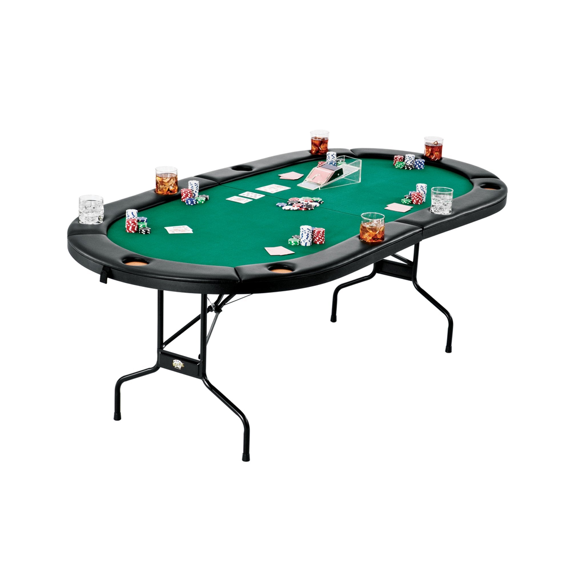"Fat Cat Texas Holdem 84"" Folding Poker Table - Gaming Blaze"