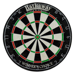 "Hathaway Sisal Fiber Bristle Winners Choice 18"" Dartboard Set - Game Tables"