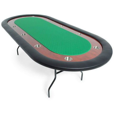 "Folding Poker Table - 10 Person Ultimate 92"" x 44"" by BBO - Gaming Tables"