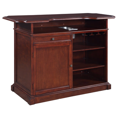 "Hathaway Ridgeline 60"" Home Bar Set with Storage - Gaming Blaze"