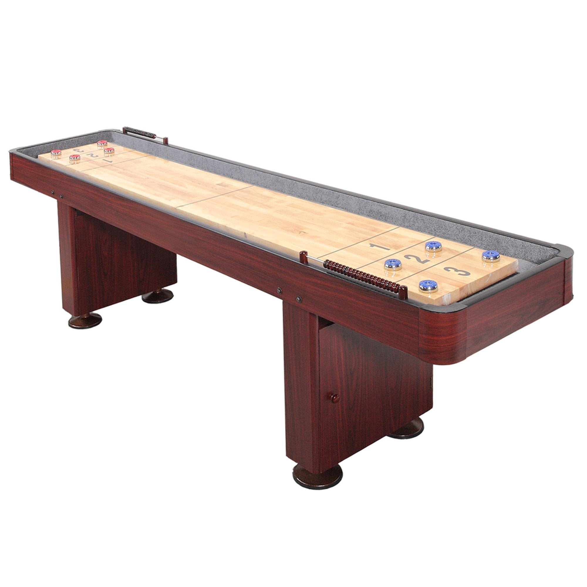 Hathaway Challenger Dark Cherry 9ft Shuffleboard Table - Gaming Blaze