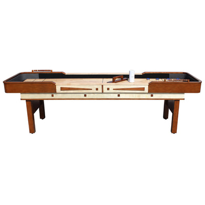 Hathaway Merlot 12ft Shuffleboard Table - Gaming Blaze