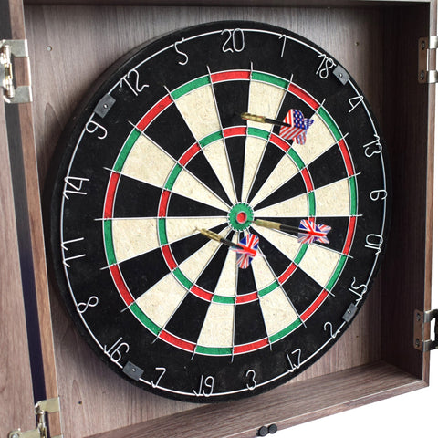 Hathaway Winchester Driftwood Dartboard Cabinet Set - Game Tables