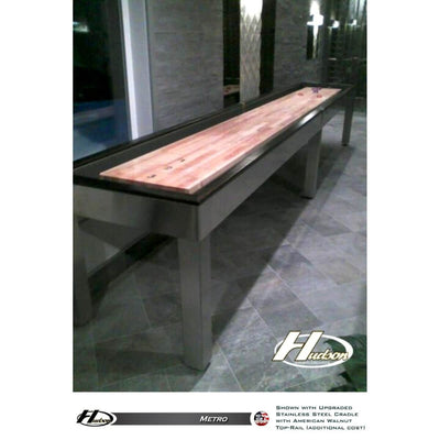 Hudson Metro Shuffleboard Table 9'-22' with Custom Finish Options - Gaming Blaze