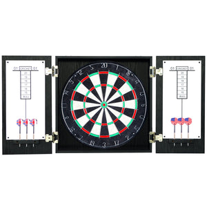 Hathaway Winchester Black Dartboard Cabinet Set - Game Tables