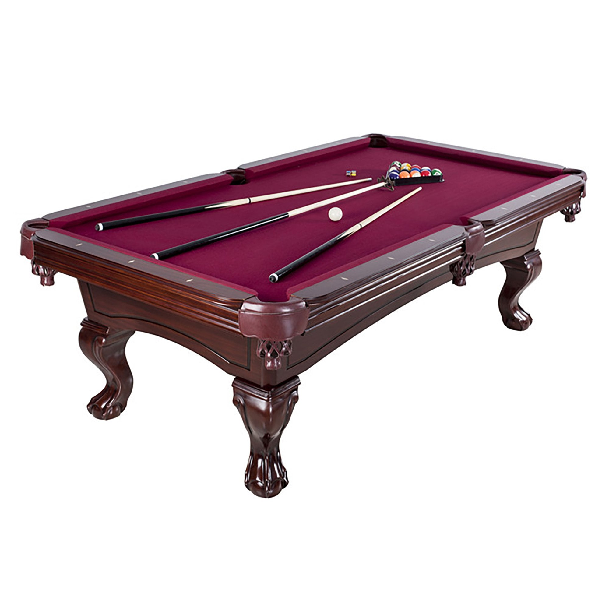 Hathaway Augusta Mahogany 8ft Non Slate Pool Table - Gaming Blaze