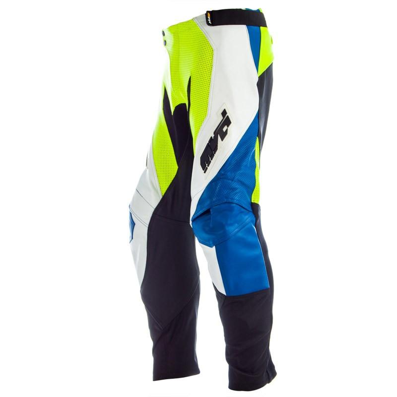 MVD Racewear Striker Supermoto Pants Blue/White/Yellow