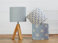Blue Big Star Linen Lampshade