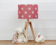 Pink Big Star Linen Lampshade