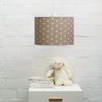 Big Polka French Grey Linen Lampshade