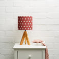Big Polka Cherry Linen Lampshade