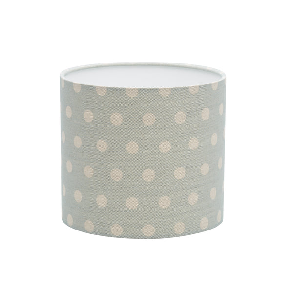 Big Polka Mint Linen Lampshade