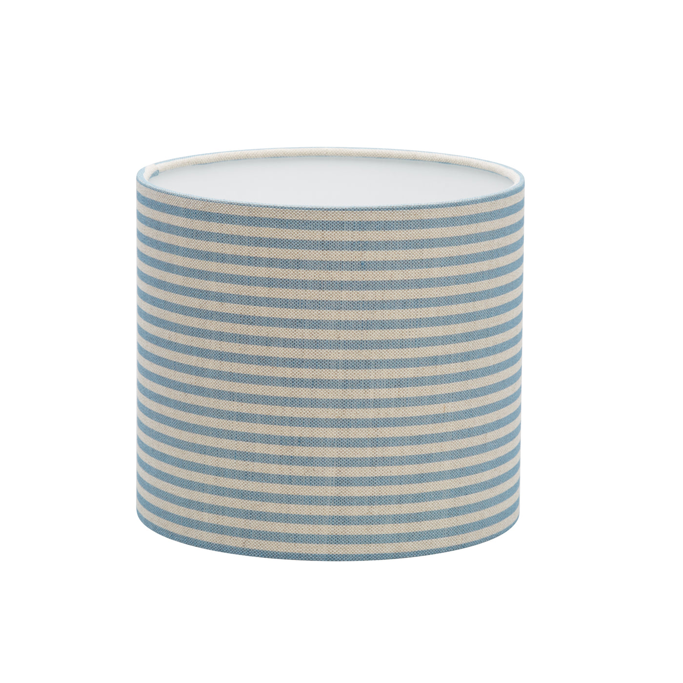 Blue Candy-Stripe Linen Lampshade