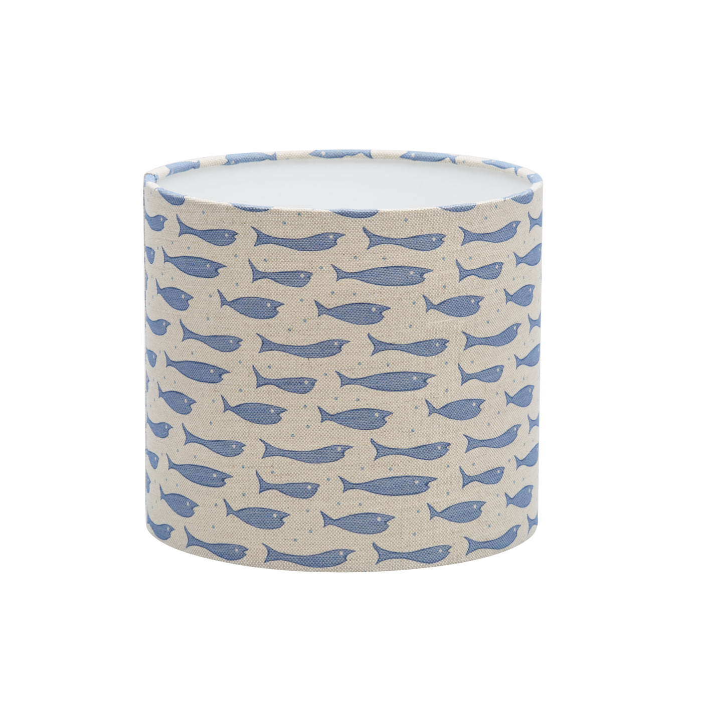 Blue Little Fish Linen Lampshade