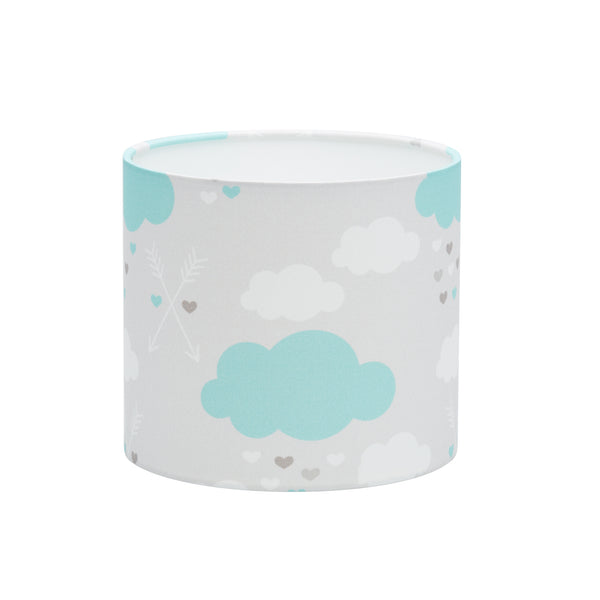 Mint Clouds and Arrows Lampshade