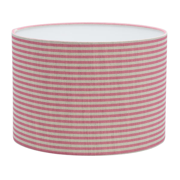 Pink Candy Stripe Linen Lampshade