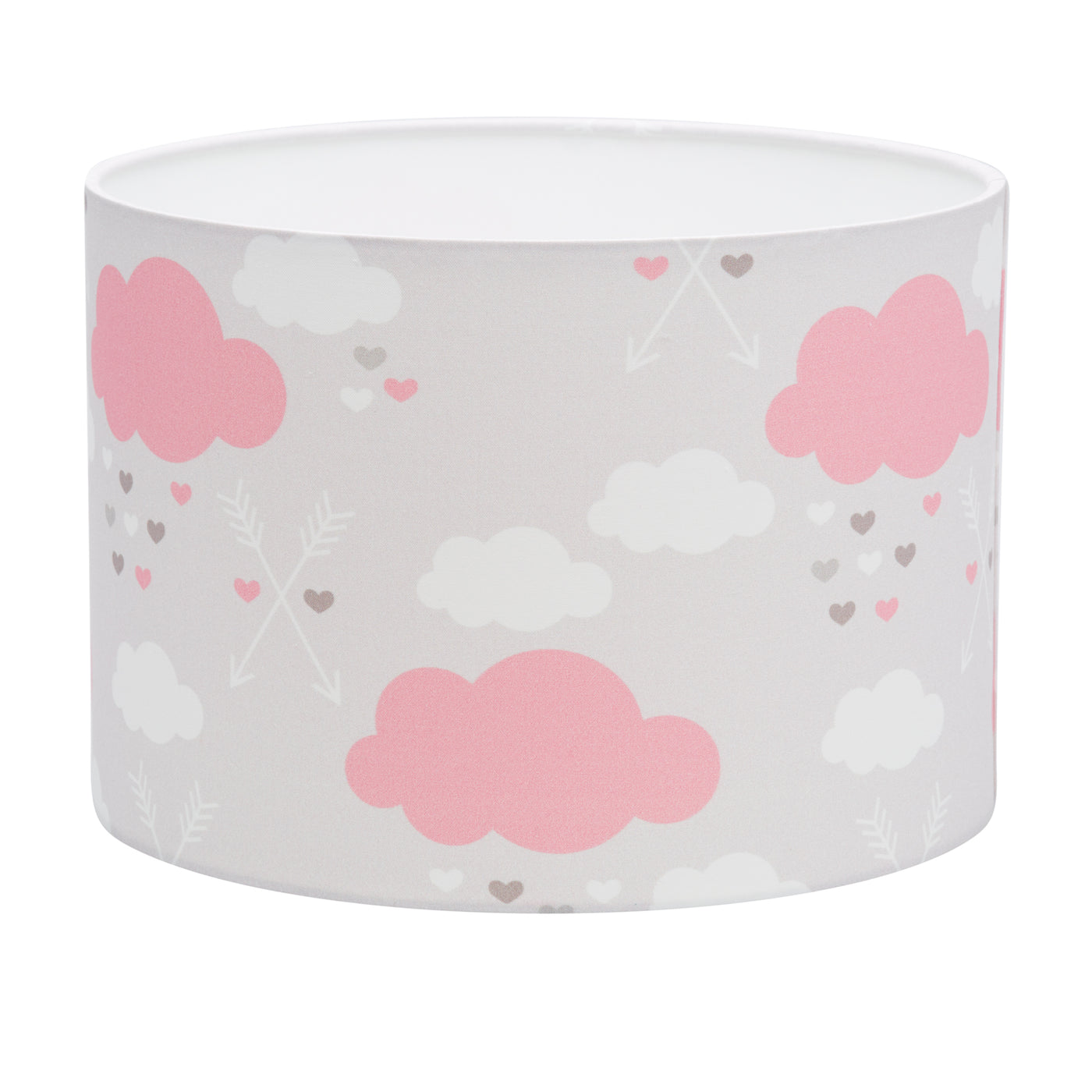 Pink Clouds and Arrows Lampshade