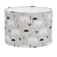 Grey Polar Bears Lampshade