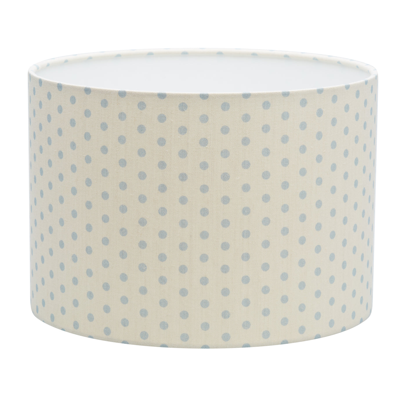 Spotty Blue on Ivory Linen Lampshade
