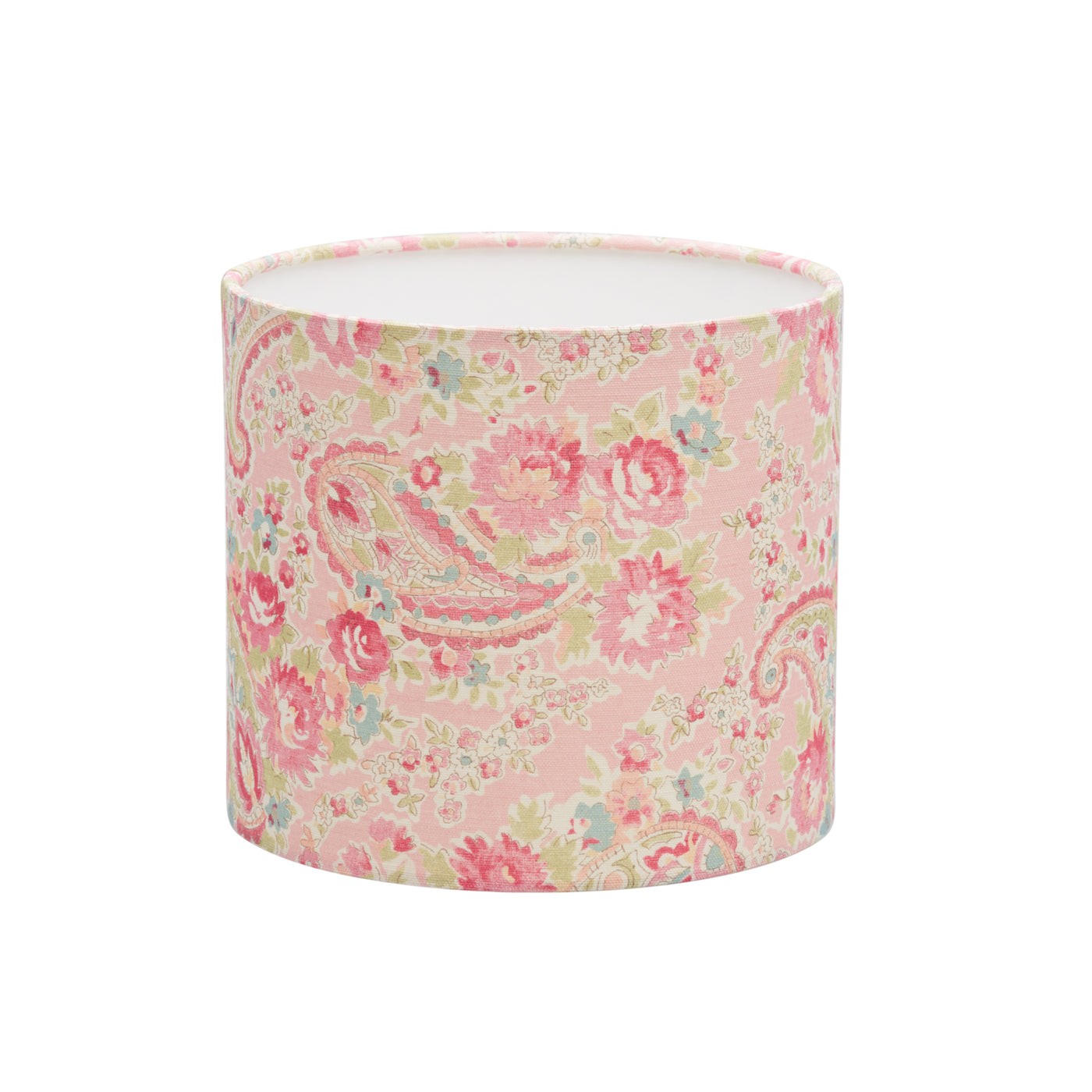 Vintage Paisley Rose Linen Lampshade