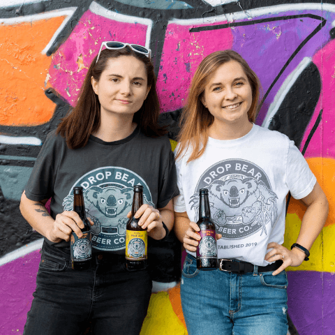 Drop Bear Beer Co founders Sarah McNena and Joelle Drummond