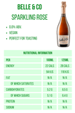 Belle & Co. Sparkling Rose 0% 750ml Nutritional Information 28 calories Good Stuff Drinks Alcohol Free Non Alcoholic Sparkling Rose Wine