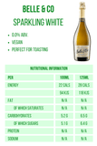 Belle & Co. Sparkling White 0% 750ml Nutritional Information 28 calories Good Stuff Drinks Alcohol Free Non Alcoholic Sparkling White Wine