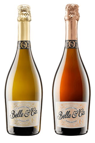 Belle & Co. Sparkling White Rosé 0% 750ml Good Stuff Drinks Alcohol Free Non Alcoholic Sparkling Wine