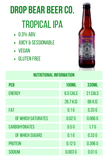 Drop Bear Beer Co Tropical IPA 0.3% 330ml 21 calories Good Stuff Drinks Alcohol Free Non Alcoholic Craft Beer Nutritional Information