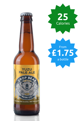 Drop Bear Beer Co Yuzu Pale Ale 0.4% 330ml 25 calories Good Stuff Drinks Alcohol Free Non Alcoholic Craft Beer Price £1.75