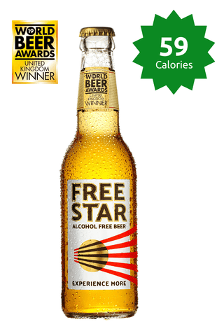 Freestar Premium  0.0% 330ml 59 calories Good Stuff Drinks Alcohol Free Non Alcoholic Craft Beer Gold Award price £26.99
