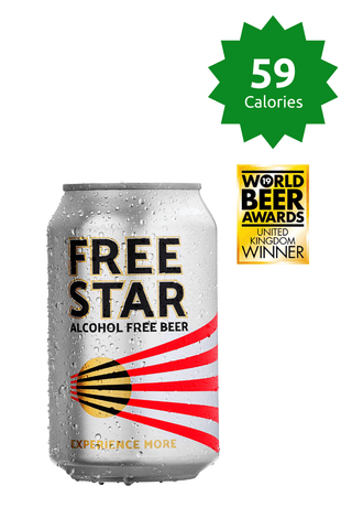Freestar Premium  0.0% 330ml 59 calories Good Stuff Drinks Alcohol Free Non Alcoholic Craft Beer Can Gold Award Price £53.99