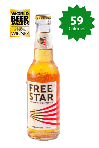 Freestar Premium  0.0% 330ml 59 calories Good Stuff Drinks Alcohol Free Non Alcoholic Craft Beer Gold Award