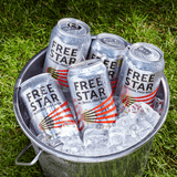 Freestar Premium  0.0% 330ml Good Stuff Drinks Alcohol Free Non Alcoholic Craft Beer Can Gold Award Cans In Ice Bucket
