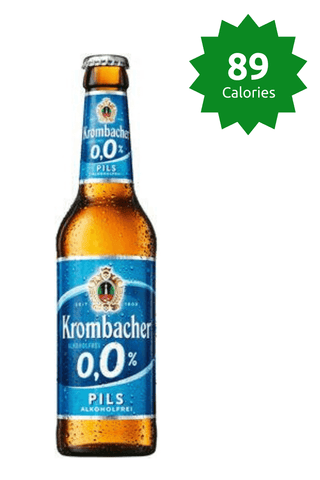 Krombacher Pilsner 0.0% - 330ml Alcohol Free Beer 89 calories Price £34.99