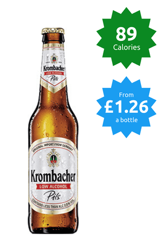 Krombacher Pilsner 0.5% - 330ml Alcohol Free Beer 89 calories Price £1.26