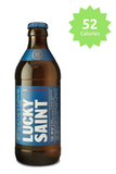 Lucky Saint Unfiltered Lager 0.5% - 330ml 52 calories Good Stuff Drinks Alcohol Free Non Alcoholic Craft Beer