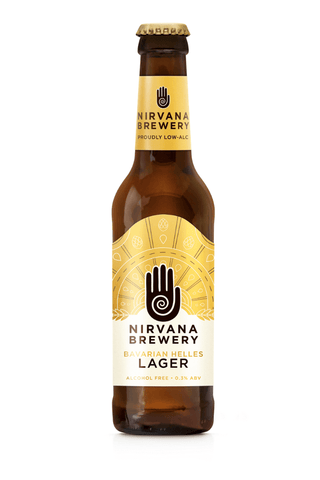 Nirvana Brewery Bavarian Helles Lager (formerly FitBeer) 0.3%  330ml Good Stuff Drinks Alcohol Free Non Alcoholic Craft Beer £1.99