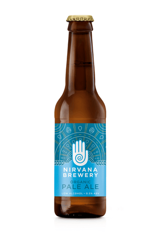 Nirvana Brewery Organic Pale Ale 0.5%  330ml Good Stuff Drinks Alcohol Free Non Alcoholic Craft Beer £1.99