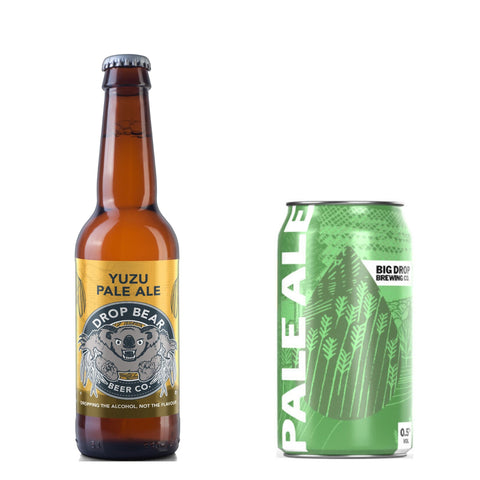 Drop Bear Yuzu Pale Ale 0.4% Big Drop Brewing Co. Pale Ale 0.5% Can - 330ml 64 calories Good Stuff Drinks Alcohol Free Non Alcoholic Craft Beer
