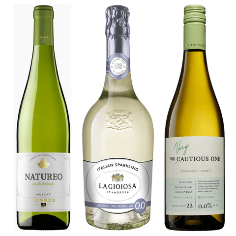 Premium Alcohol Free White Wine Pack La Gioiosa Torres Natureo Muscat Very Cautious One