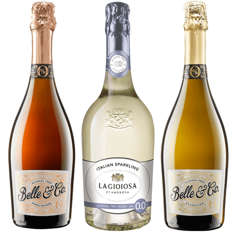 Belle & Co. Sparkling Rose 0% La Gioiosa Good Stuff Drinks Alcohol Free Non Alcoholic Sparkling Rose Wine