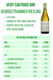 The Very Cautious One Gewürztraminer Riesling 0.0% 28 calories Nutritional Information Good Stuff Drinks Alcohol Free Wine