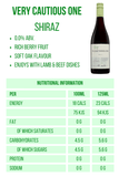The Very Cautious One Shiraz 0.0% 23 calories Nutritional Information Alcohol Free Wine