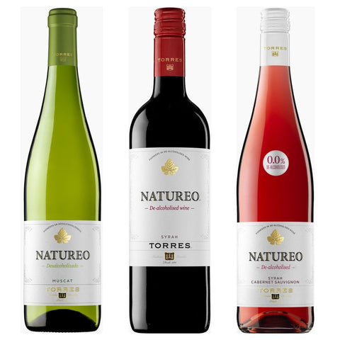 Torres Natureo Muscat Rose Syrah 0.0% - 750ml Alcohol Free White Red Wine Good Stuff Drinks Alcohol Free Non Alcoholic Wine