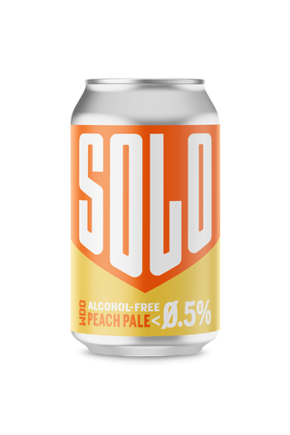 WBB West Berkshire Brewery Solo Peach Ale Can Alcohol Free Beer Good Stuff Drinks