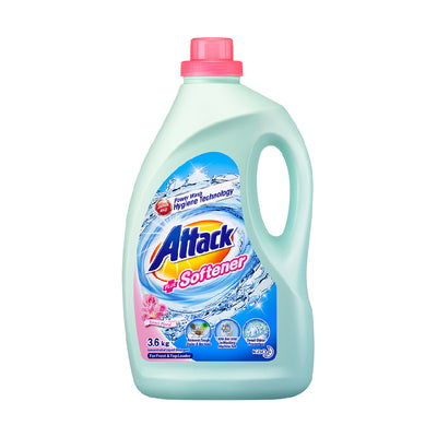 Attack Liquid Detergent Plus Softener (Sweet Floral) 3.6KG