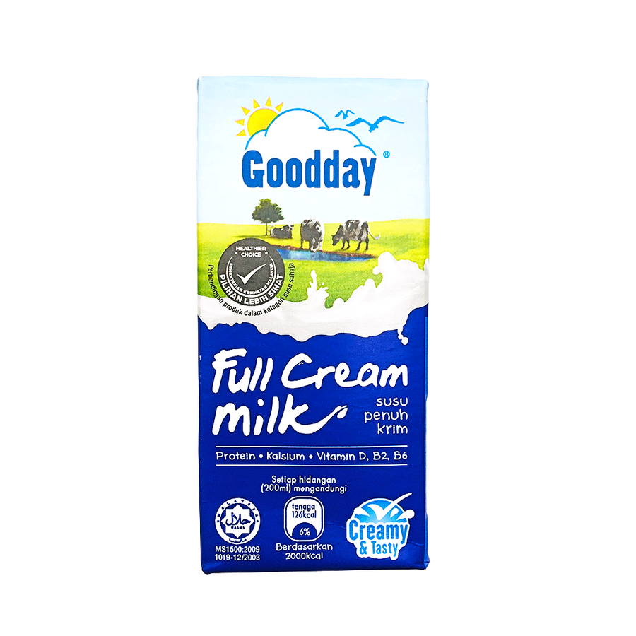 Goodday UHT Full Cream Milk Tetra Pack 6's x 200ML