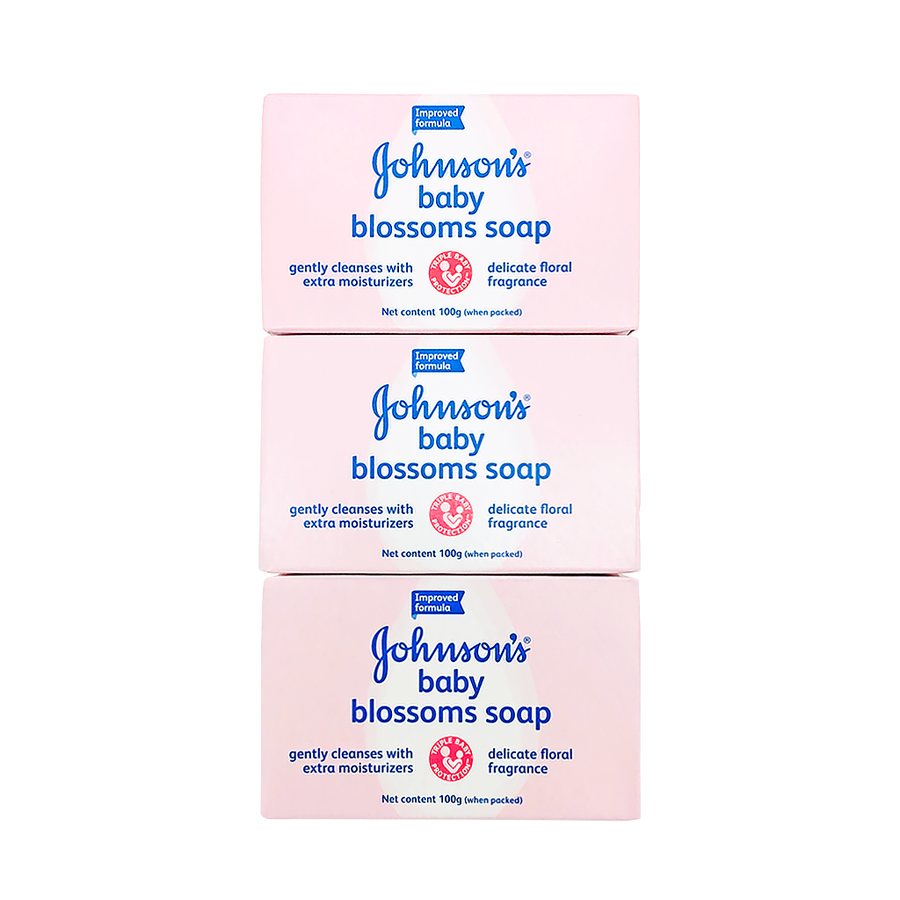 Johnson's Baby Soap Blossom 100G X 3's